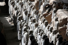 Terracotta warriors of XiAn Stock Image