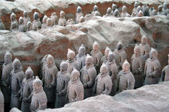 Terracotta warriors in Xian, C Royalty Free Stock Images