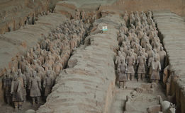 Terracotta Warriors in Xian Stock Image