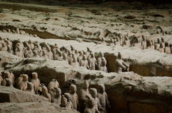 Terracotta Warriors in Xian Stock Photo