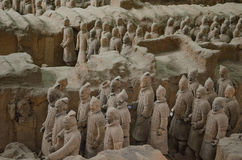 Terracotta Warriors in Xian royalty free stock photo
