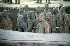 Terracotta warriors, Xian (China) Stock Photography