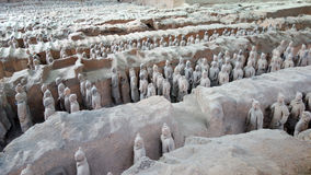 Terracotta Warriors in Xian, China Royalty Free Stock Image