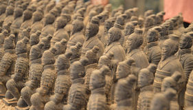 Terracotta Warriors from Xian. Life-size statues of the Qin army to protect the emperor in the afterlife stock photos