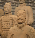 Terracotta Warriors from Xian. Life-size statues of the Qin army to protect the emperor in the afterlife Royalty Free Stock Images