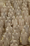 Terracotta Warriors from Xian. Life-size statues of the Qin army to protect the emperor in the afterlife. Photo taken September 2015 Royalty Free Stock Image