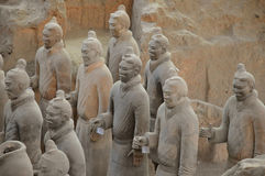 Terracotta Warriors from Xian. Life-size statues of the Qin army to protect the emperor in the afterlife. Photo taken September 2015 Stock Photography