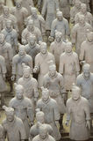 Terracotta Warriors from Xian. Life-size statues of the Qin army to protect the emperor in the afterlife. Photo taken September 2015 Royalty Free Stock Photo