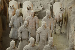Terracotta Warriors from Xian Royalty Free Stock Photo