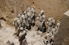 Terracotta Warriors from Xian. Life-size statues of the Qin army to protect the emperor in the afterlife. Photo taken September 2015 Stock Photo