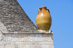 Terracotta water jug. Alberobello. Apulia. Stock Photo