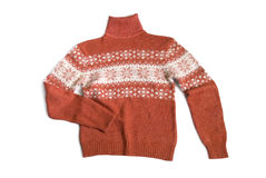 Terracotta wool sweater Stock Image