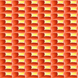 Terracotta and yellow ornamental seamless pattern Stock Photo