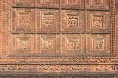 Terracottadecoations - Madanmohan-tempel - Bishnupur, India Royalty-vrije Stock Afbeelding