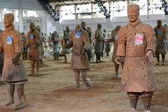 Terracottaleger Xi'an Shaanxiprovincie China Royalty-vrije Stock Foto