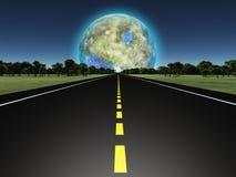 Terraformed księżyc Zdjęcia Royalty Free