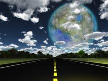 Terraformed-Mond von der Erde Lizenzfreies Stockbild