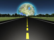 Terraformed moon Royalty Free Stock Photos