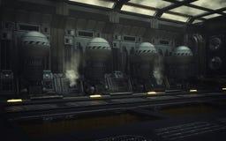 Terraformer引擎大厅 免版税库存图片