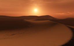 沙漠红色terragen 库存照片