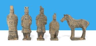 Terraglie cinesi antiche dell'argilla Immagini Stock Libere da Diritti