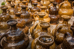 Terraglie cinesi del vino Fotografia Stock Libera da Diritti