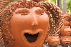 Terraglie del fronte felici Fotografia Stock