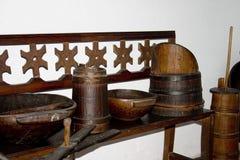 Terraglie di legno fotografia stock