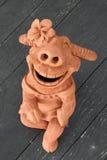 Terraglie di sorriso della Buffalo Fotografia Stock