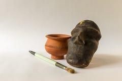 Terraglie fatte a mano della scultura Fotografie Stock