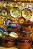 Terraglie fatte a mano tradizionali dalla Bulgaria Immagini Stock Libere da Diritti