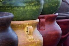 Terraglie messicane variopinte dell'argilla Fotografia Stock Libera da Diritti