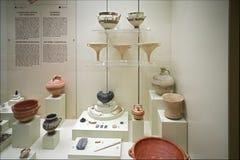 Terraglie in museo di Micene Fotografie Stock Libere da Diritti