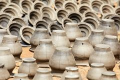 Terraglie nel Nepal, terraglie Fotografia Stock