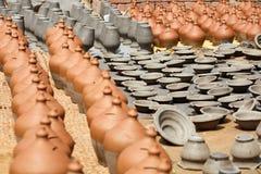 Terraglie nel Nepal, terraglie Fotografie Stock