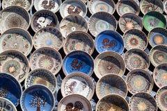 Terraglie rumene tradizionali Fotografia Stock