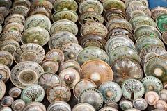 Terraglie rumene tradizionali Fotografia Stock Libera da Diritti