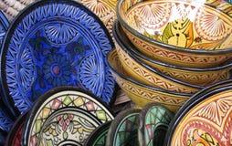 Terraglie tunisine fotografie stock libere da diritti