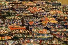 Terraglie turche fatte a mano Fotografie Stock Libere da Diritti
