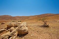 Terrain. Harsh Mountainous Terrain in the West Bank, Israel royalty free stock photos