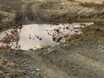 terrain accidenté Photographie stock