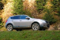 Terrain car in mud. Terrain car on mountain roads stock images