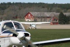 Terrain d'aviation image libre de droits
