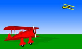 Terrain d'aviation de cru Photo stock