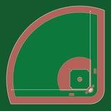 Terrain de base-ball Photos libres de droits