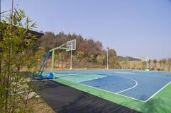 Terrain de basket photo stock