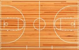 Terrain de basket illustration stock