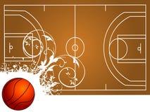 Terrain de basket Image stock