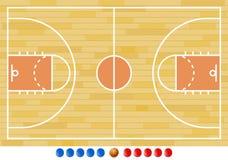 Terrain de basket, jeu de basket-ball, sport Illustration Libre de Droits