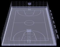 Terrain de basket. Rayon X Image stock